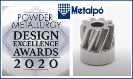 Metalpó é premiada no Powder Metallurgy Design Excellence Awards 2020