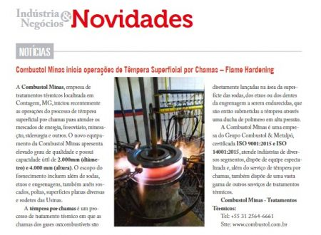 Grupo Combustol é destaque na Industrial Heating!
