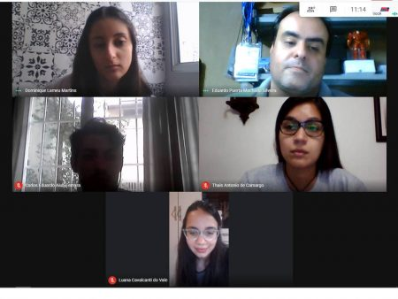 Reunião on-line com alunos da USP